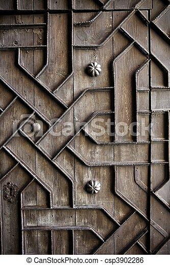 La vieja puerta de madera decodificada - csp3902286