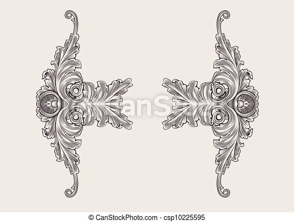 Decor Elements Floral Ornament - csp10225595