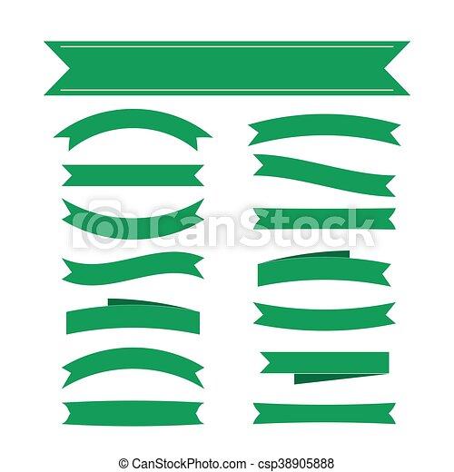 decoração, bandeiras, jogo, verde, fita - csp38905888