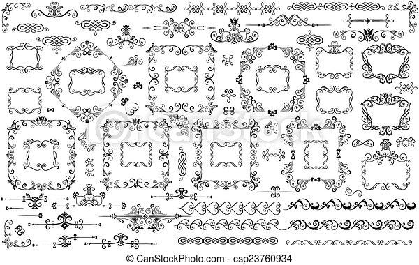 decoração, desenho - csp23760934