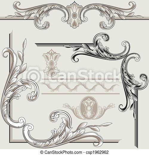 decoração, elementos, clássicas - csp1962962