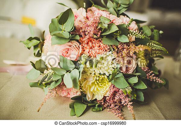 decoração, flores, casório - csp16999980