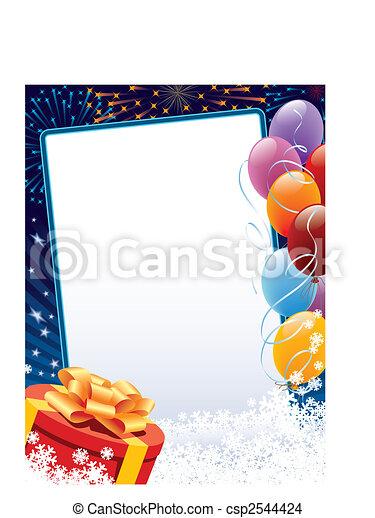 decoração, inverno, carnaval - csp2544424