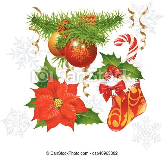 decoração, jogo, natal - csp40963302