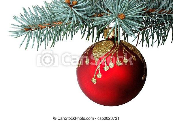 decoração, natal - csp0020731