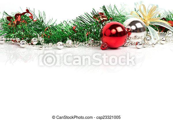 decoração, natal, fundo - csp23321005