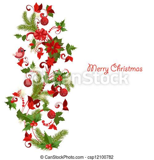 decoração, natal - csp12100782
