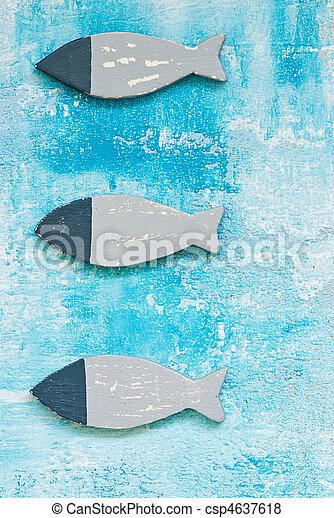 decoração, peixe, marítimo - csp4637618