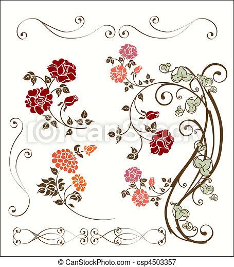 decoração, rosa, jogo - csp4503357
