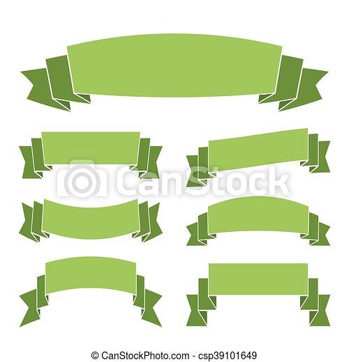 decoração, verde, bandeiras, jogo, fitas - csp39101649
