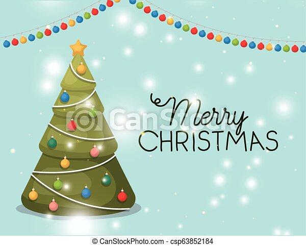 Decoración de pino de Navidad - csp63852184