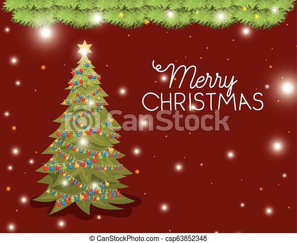 Decoración de pino de Navidad - csp63852348