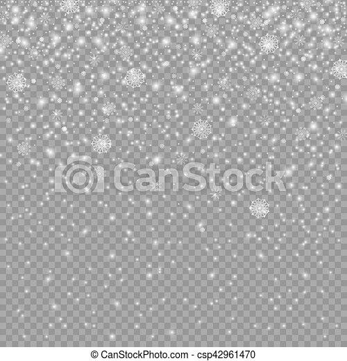 decoración, caer, navidad, nieve - csp42961470
