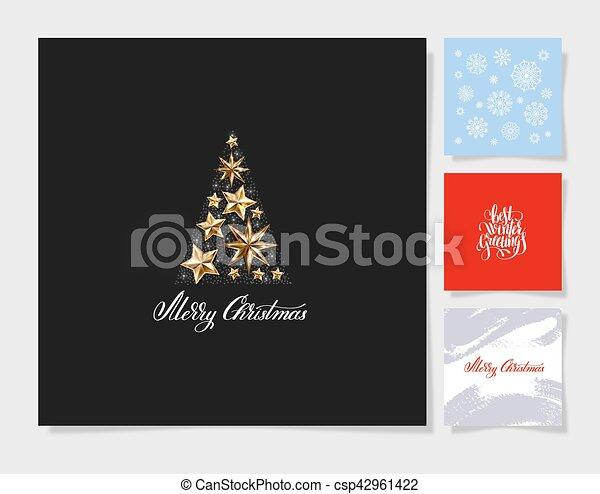 Un decorado de árboles de Navidad - csp42961422