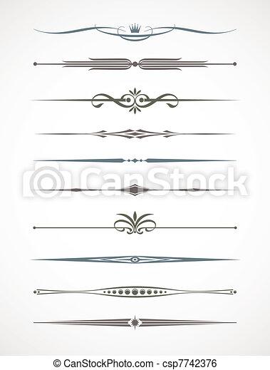 Vecror set - página de decoración y los desviadores de texto - csp7742376
