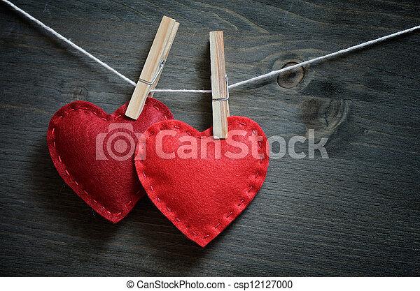 decoración, día, valentino - csp12127000