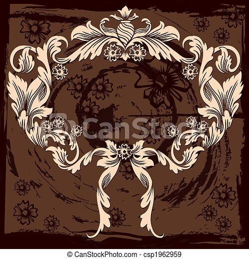 La clásica decoración floral - csp1962959