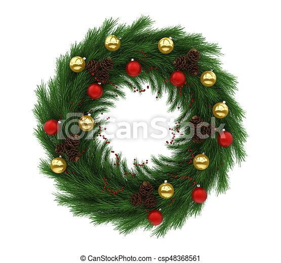 decoracin guirnalda navidad aislado ilustracin de archivo - Guirnalda De Navidad