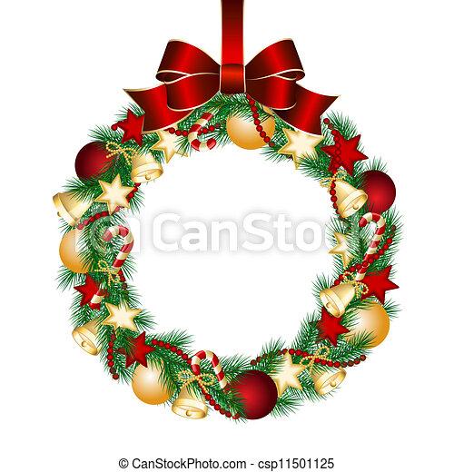 Decoración de coronas de Navidad - csp11501125