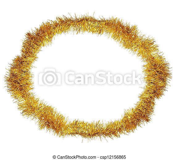 El marco de la decoración amarilla de Navidad - csp12156865
