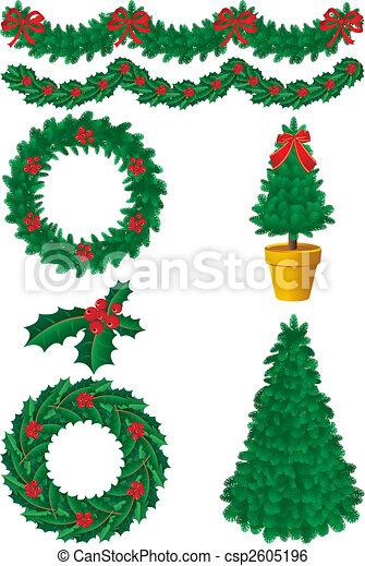 Decoración navideña - csp2605196