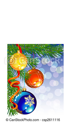 La decoración de Navidad - csp2611116