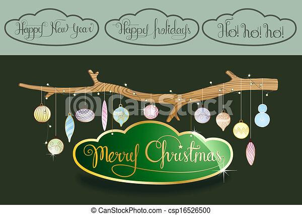 Decoración navideña - csp16526500