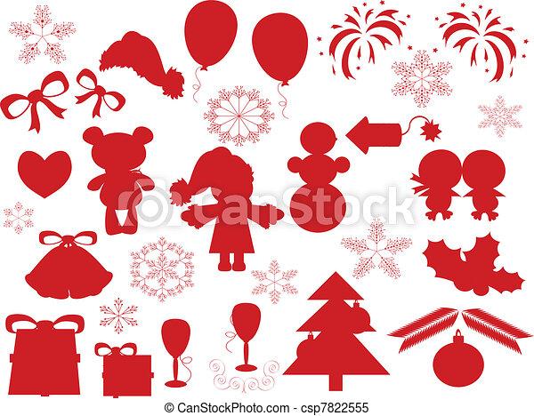 Decoración navideña - csp7822555