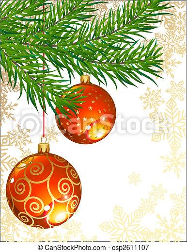 Decoración navideña - csp2611107
