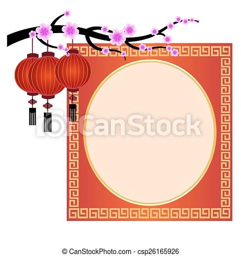 La decoración del año nuevo chino - csp26165926