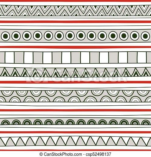 Patrón de colores sin fondo para decoración - csp52498137