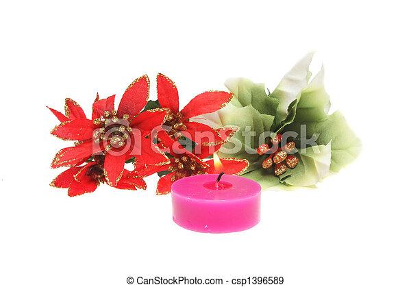 Decoración de velas y Navidad - csp1396589