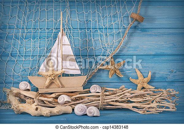 Decoración de vida marina - csp14383148