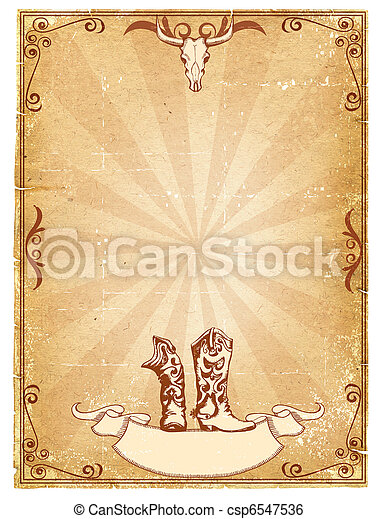 Papel de vaqueros para texto con marco de decoración. - csp6547536