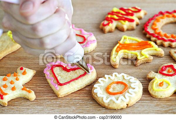 decorar, galletas - csp3199000