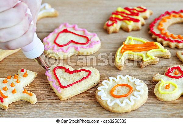 decorar, galletas - csp3256533