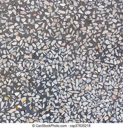 Decorarive Gray Terrazzo Floor - csp37635218