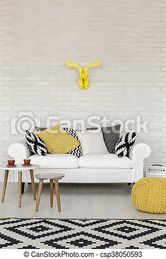 Decorate with yellow - csp38050593