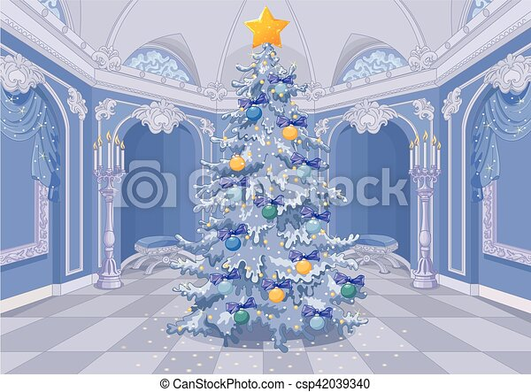 Decorated Christmas Tree - csp42039340