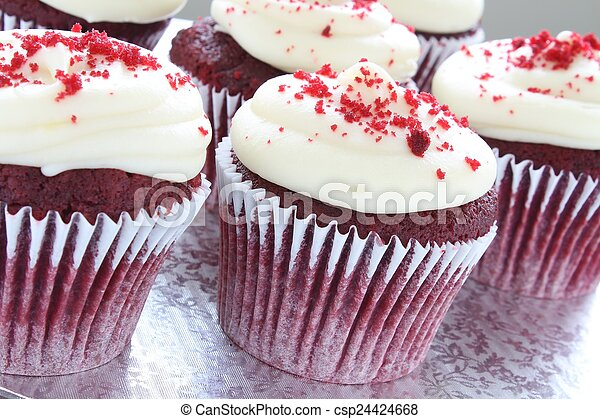 decorated cup cakes - csp24424668