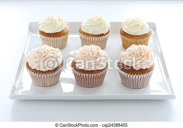 decorated cup cakes - csp24388455