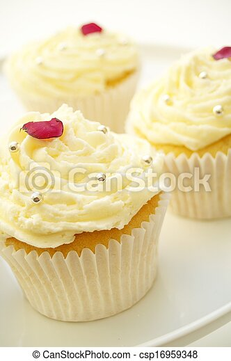 decorated cup cakes - csp16959348