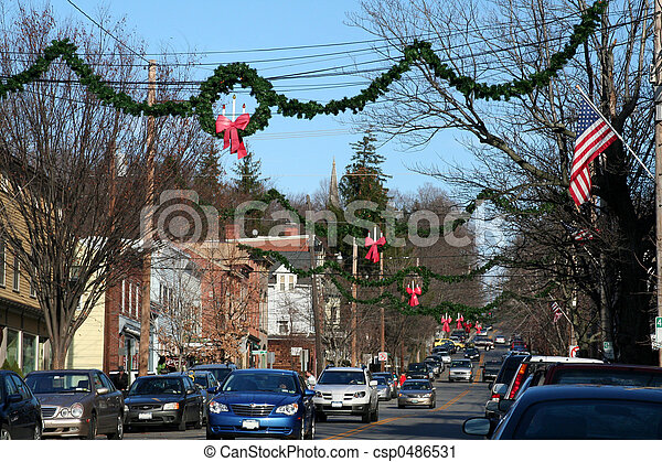 decorated for xmas csp0486531 - Small Town Christmas