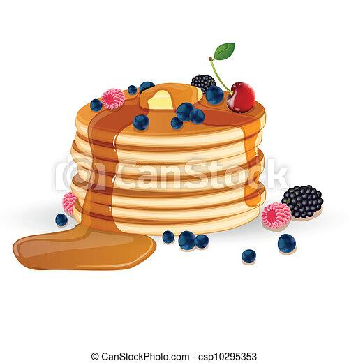 Decorated Vector Pancakes - csp10295353