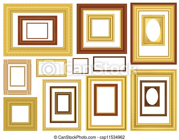 decoratief, afbeelding, vector, lijstjes - csp11534962