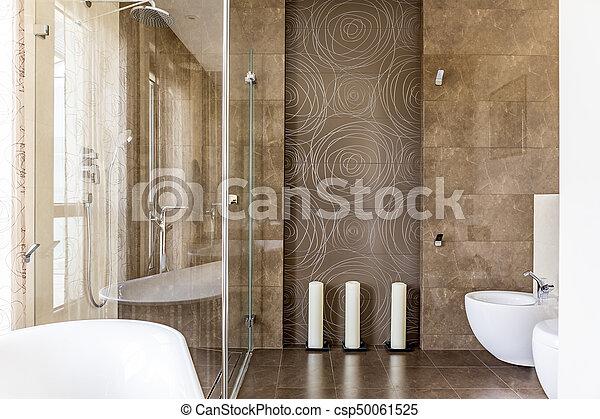 Decoratief badkamer tegels decoratief bruine badkamer model