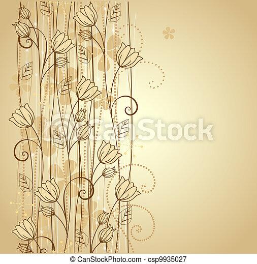 decoratief, bloemen - csp9935027