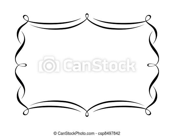 decoratief, decoratief, frame, kalligrafie - csp8497842