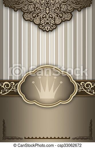 decoratief, elegant, frame., achtergrond - csp33062672