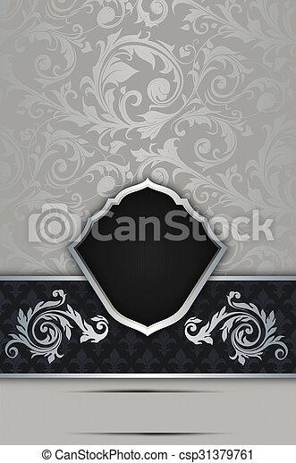 decoratief, elegant, frame., achtergrond - csp31379761